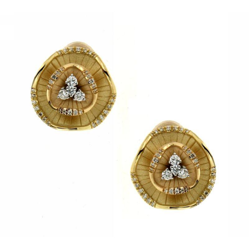 Orecchini Aqua con Diamanti 0,34 ct