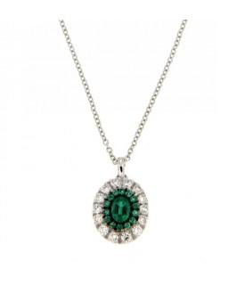Collana con Diamanti 0,28 ct e Smeraldi 0,38 ct