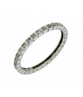 Anello Vera Intera con Diamanti 0,15 ct