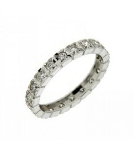 Anello Vera Intera con Diamanti 0,70 ct