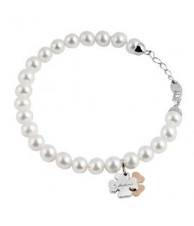 Bracciale Minimal perle Ext Quadrifoglio