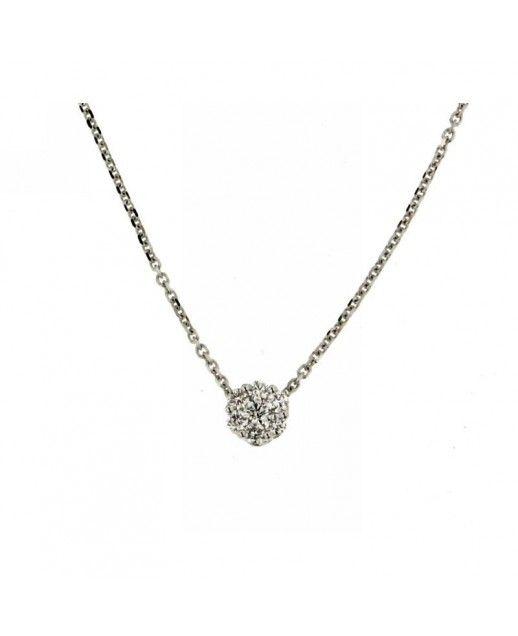 Collana con diamante solitario 0,17 ct