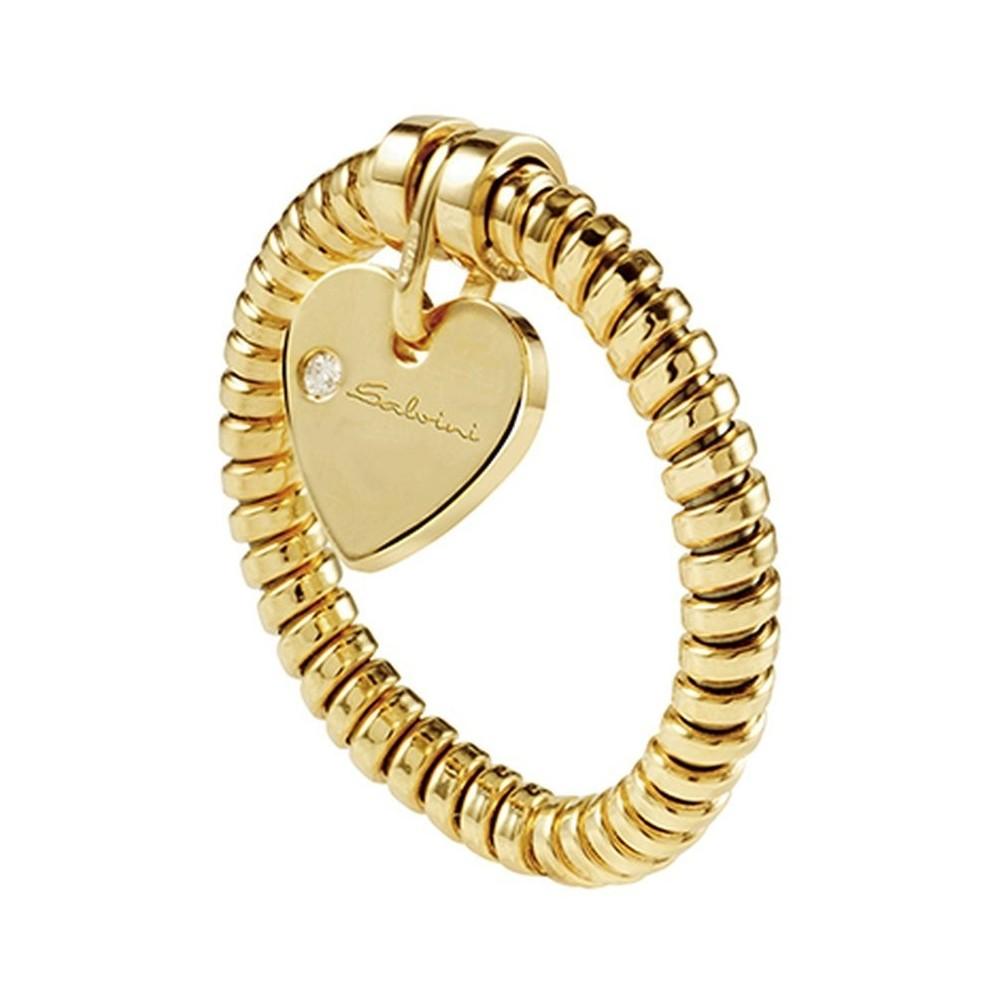 Anello in oro giallo cuore Minimal Pop