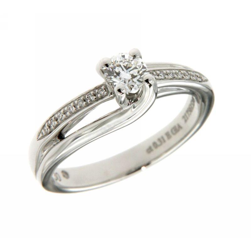 Anello Solitario con Diamanti 0,31ct GIA