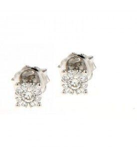 Orecchini Oro Bianco con Diamanti 0,36 ct