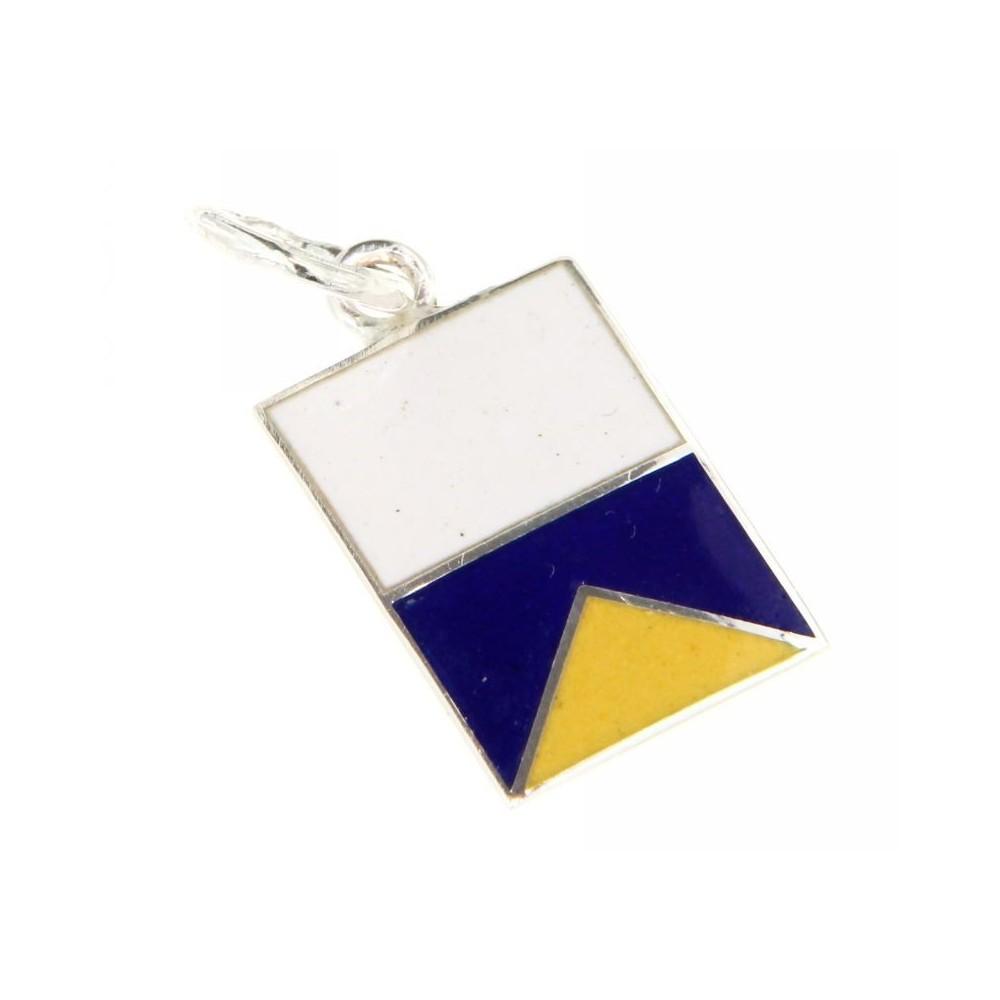 Bandiera Nautica in oro argento