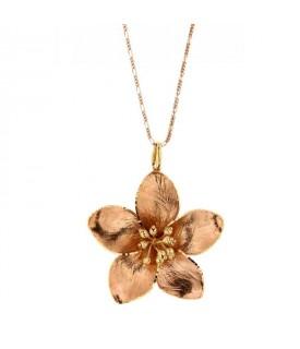 Collana Fiore in Oro Rosa