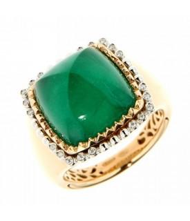 Anello con Diamanti 0,05 ct e Smeraldo 2,30 ct