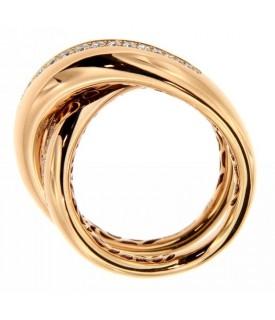 Anello in Oro con Diamanti 0,43 ct
