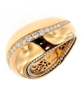 Anello in Oro con Diamanti 0,48 ct