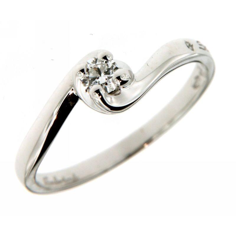 Anello Solitario con Diamanti 0,14 ct