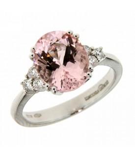 Anello con Diamanti 0,20 ct e Morganite 0,70 ct