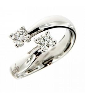 Anello in Oro con Diamanti 0,62 ct