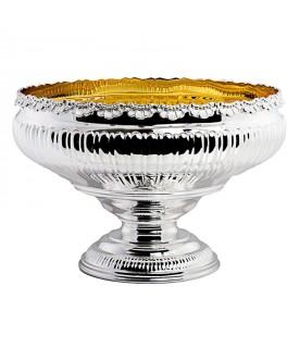 Portafrutta con conchiglie in argento
