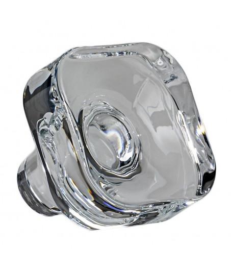 Portaliquore quadro liscio cristallo e argento