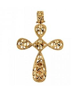 Ciondolo Croce in Oro Giallo
