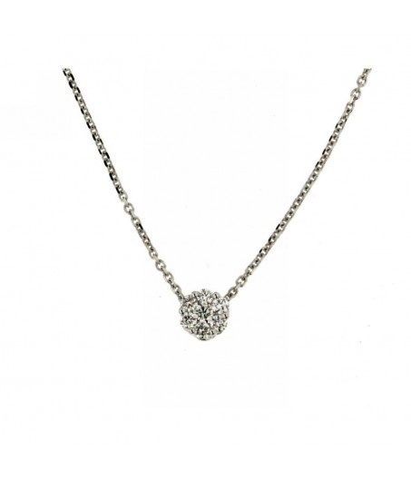 Collana con diamante solitario 0,17 ct