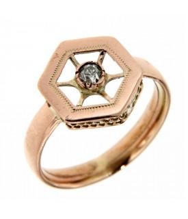 Anello fine 800 con diamanti