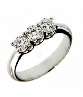 Anello Trilogy con Diamanti 1,01ct