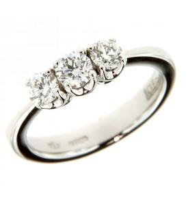 Anello Trilogy con Diamanti 0,79ct