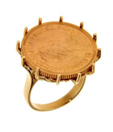 Anello portasterline in oro a filo