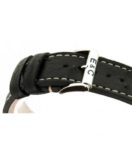 Aiglon Grande Taille quadrante Nero cinturino pelle