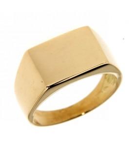 Anello Oro Giallo forma rettangolare