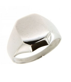 Anello Oro Bianco forma rettangolare