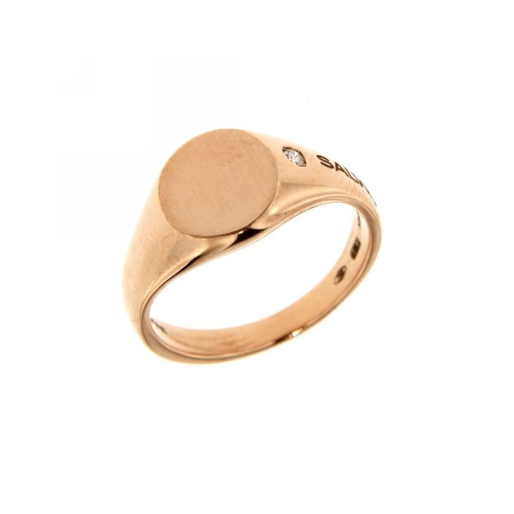 design di qualità daf33 a58b4 Anello Mignolo oro rosa con diamanti 0,03ct