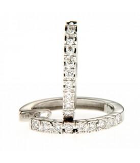 Orecchini cerchi con diamanti 0,25ct