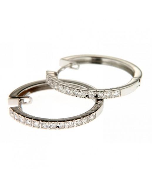 Orecchini cerchi con diamanti 0,34ct