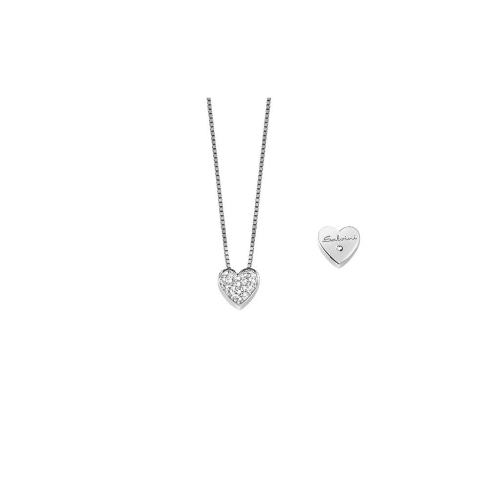 Collana Cuore con Diamanti 0,07ct