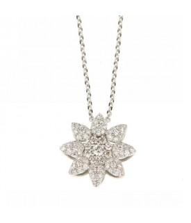 Collana a Fiore con Diamanti 0,37ct
