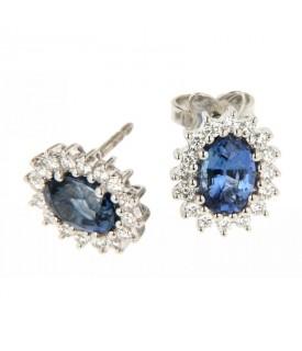 Orecchini Zaffiri 2,06ct e Diamanti 0,43ct
