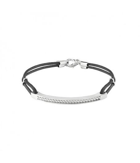Bracciale in argento con diamanti (ct. 0,005)