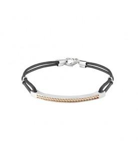Bracciale in argento rosè con diamanti (ct. 0,005)