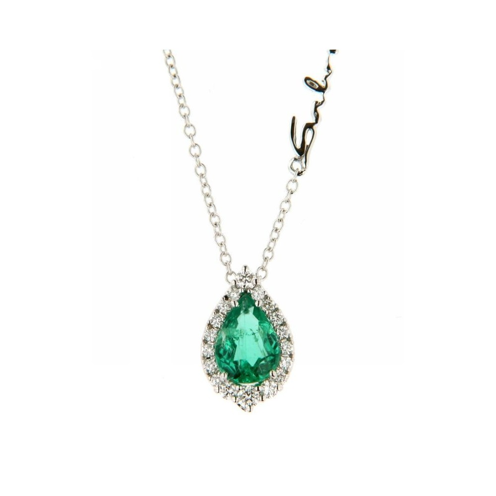 nuovo stile 96985 931c2 Collana con diamanti (ct. 0,13) e smeraldo (ct. 0,57) di Salvini