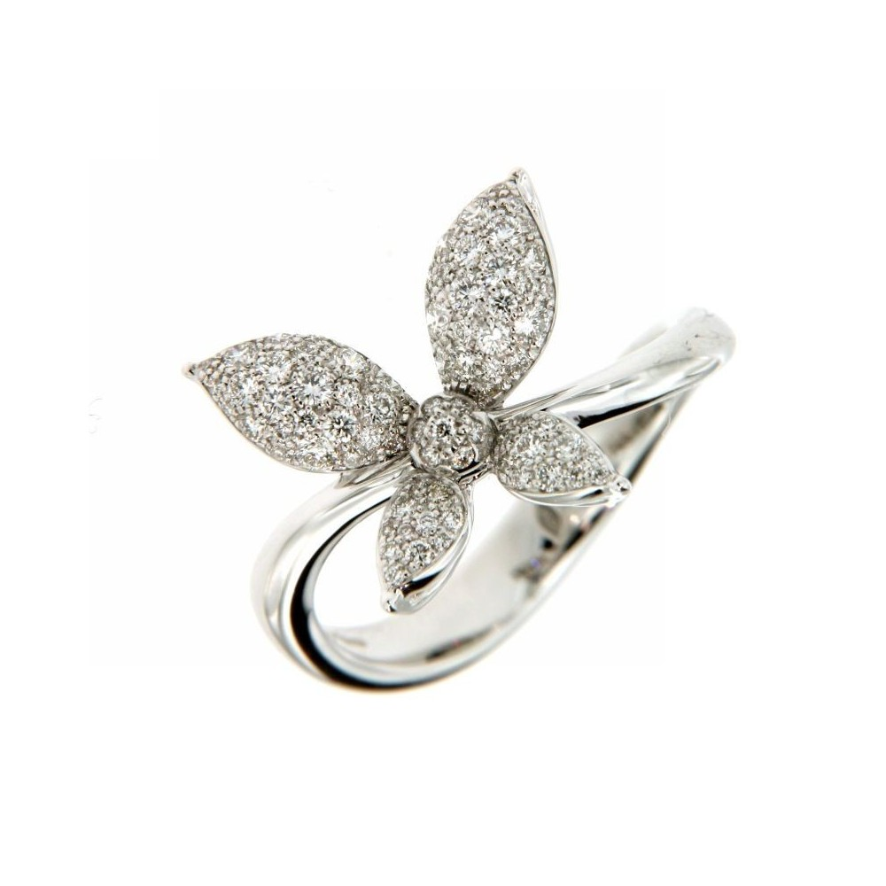 Anello Farfalla con Diamanti 0,50ct