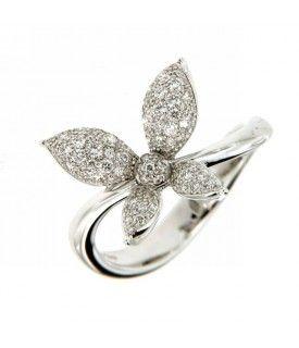 Anello Farfalla con Diamanti 0,50ct