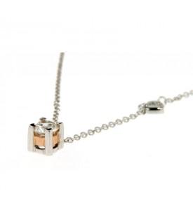 Collana in oro rosa con diamanti 0,25ct