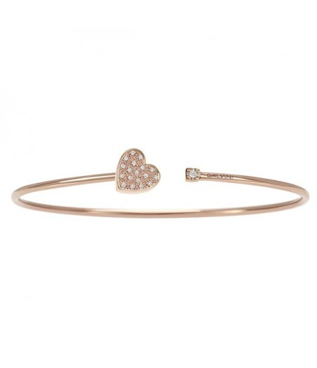 Bracciale in oro rosa con diamanti (ct. 0,08)