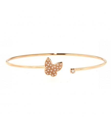 Bracciale in oro rosa con diamanti (ct. 0,08)