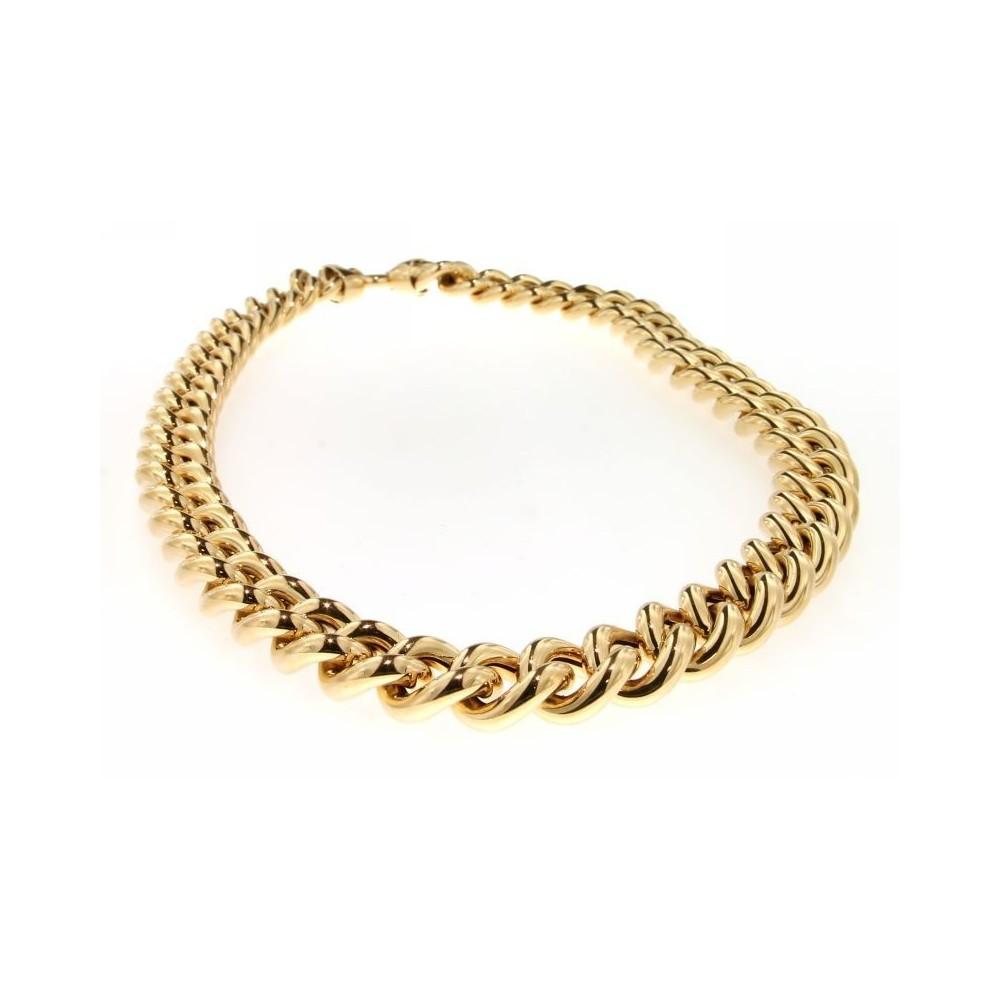 Collana a catena in oro giallo