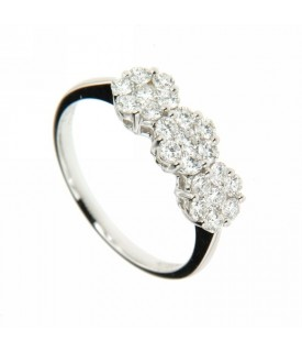 Trilogy di Diamanti 0,89ct