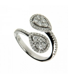 Anello Contraire con Diamanti 0,79 ct