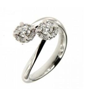 Anello Contraire con Diamanti 0,38 ct