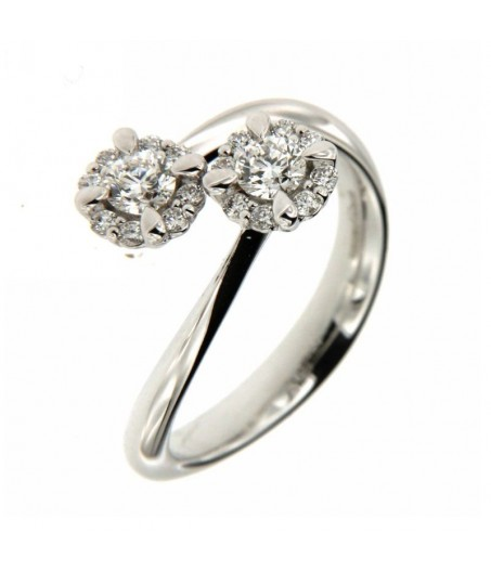 Anello Contraire con Diamanti 0,38 ct