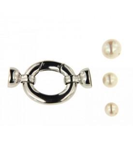 Chiusura per collana in oro bianco