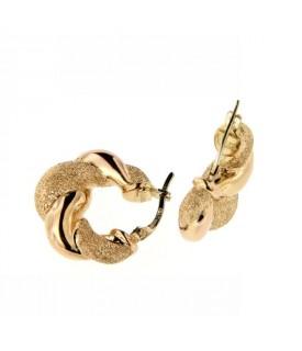 Orecchini cerchi in oro Giallo lucido e diamantato
