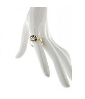 Anello in Oro Giallo e Bianco